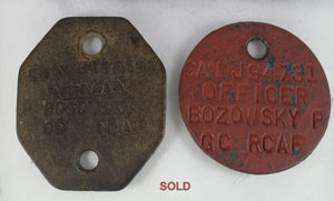 WW2 RCAF dog tags (Polish origin)