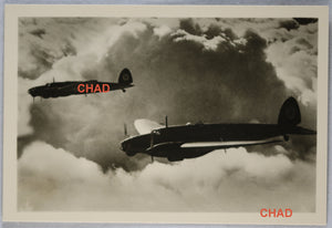 WW2 Schaller propaganda photo of two Heinkels flying in formation
