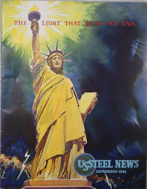 WW2 September 1942 patriotic issue of U.S. Steel News