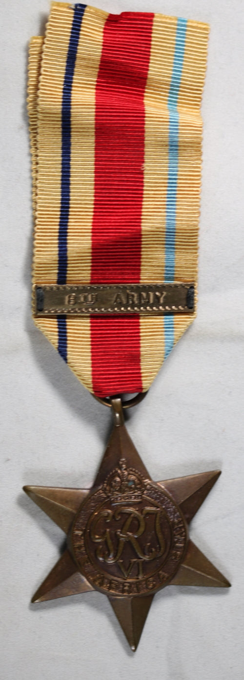 WW2 UK medal - Star of Africa with 8th Army clasp