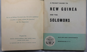 WW2 US Armed Forces 'A Pocket Guide to New Guinea' 1943