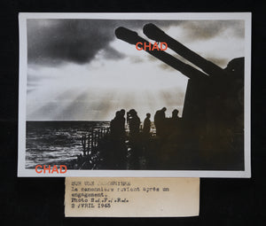 WW2 photo German gunboat at sea 1943