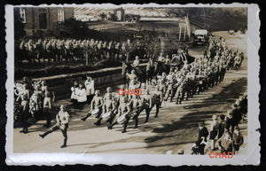 WW2 photo German military funeral procession
