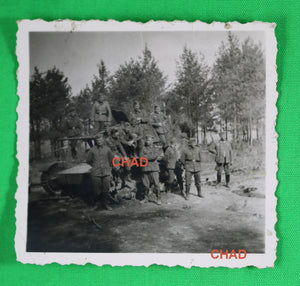 WW2 photo Germans soldiers on top enemy tank, Operation Barbarossa 1941