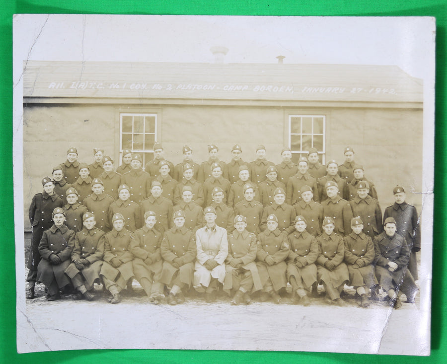 WW2 photo of army platoon, IATC Camp Borden 1942