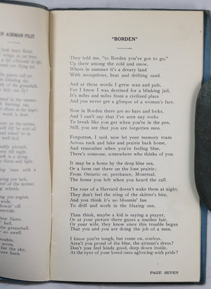 WW2 poetry book 'Rhymes of the R.C.A.F.' by Bill Shaw