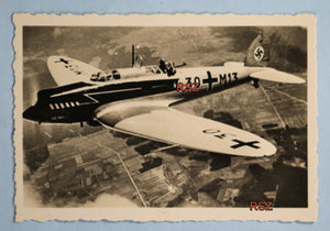WW2 propaganda photo of Heinkel 70 in flight