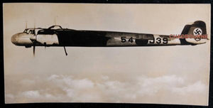 WW2 set of two photo postcards of German planes