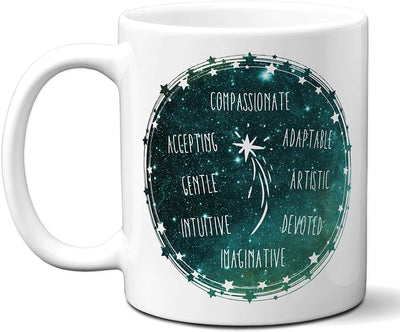 Pisces Zodiac Sign Coffee Mug | Horoscope, Astrology, Constellation | Unique Gift Idea | Two Sided