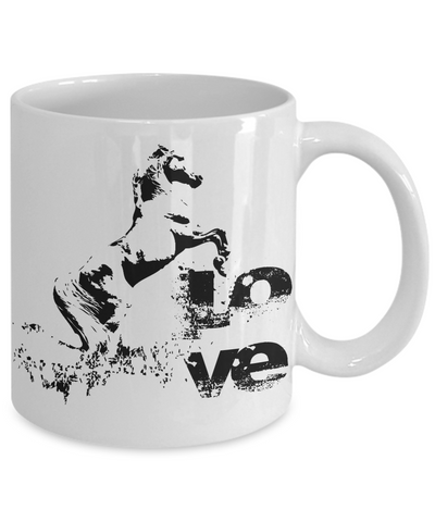 Horse Love Coffee Mug Horse Lover Gift Idea Tea Cup