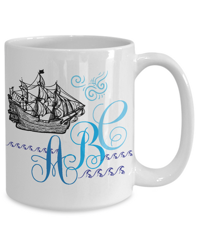 custom coffee mug for sailors or captains