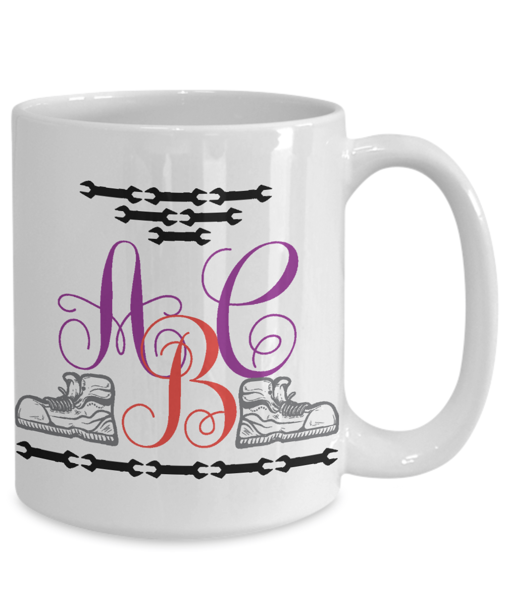 handyman personalized monogrammed coffee mug tea cup gift idea