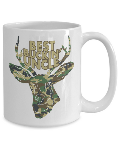 Best Buckin' Uncle Funny Coffee Mug Tea Cup Deer Hunter Gifts