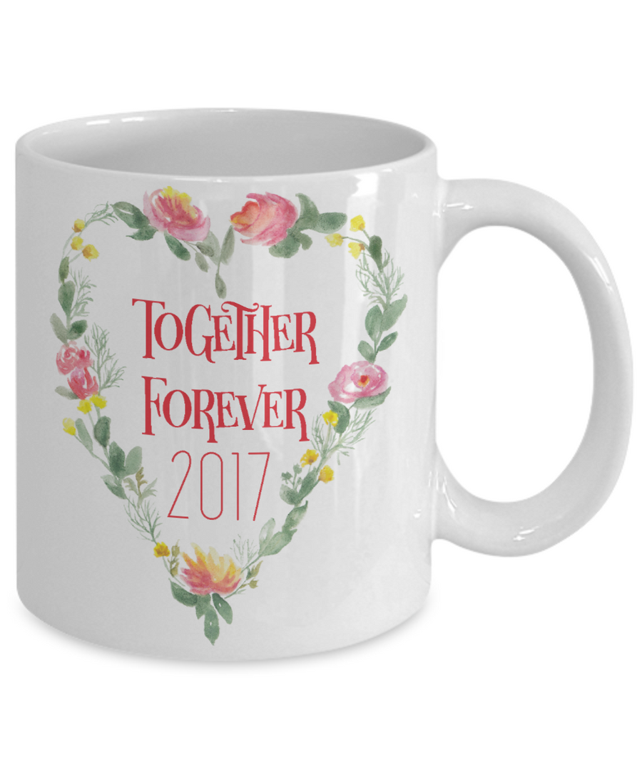 Together Forever Coffee Mug Tea Cup | Valentine's Day Wedding Gift Idea