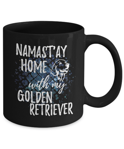 Namast'ay Home With My Golden Retriever Funny Coffee Mug
