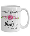personalized maid of honor coffee mug