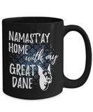 Namast'ay Home With My Great Dane Funny Coffee Mug Tea Cup Dog Lover/Owner Gift Idea 15oz