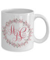 Monogrammed Wreath Tea Cup