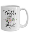 World's Best Aunt Coffee Mug Tea Cup | Gift Idea for Aunties