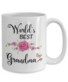 World's Best Grandma Coffee Mug Tea Cup |  Gift Idea For Grandmothers