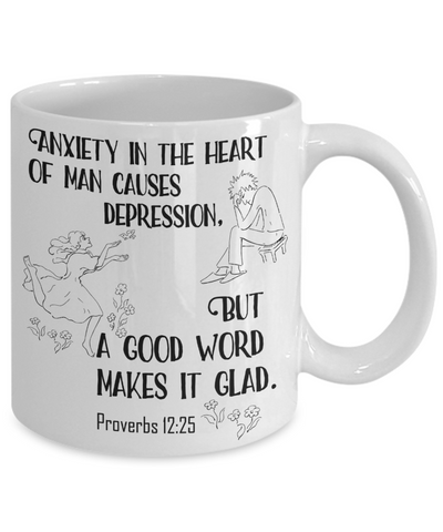 Proverbs 12:25 Coffee Mug 11oz back