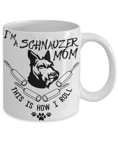 schnauzer lover coffee mug