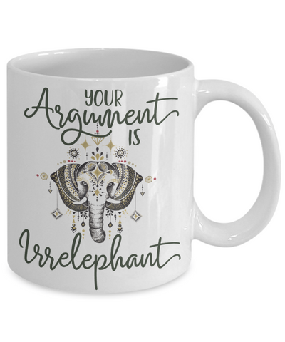 elephant lover coffee mug