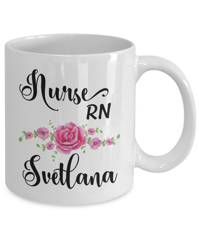 Custom Nurse Coffee Mug with name