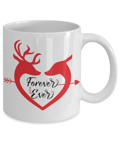 Love Forever and Ever Deer Tea Cup