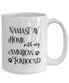 Namast'ay Home With My American Foxhound Mug