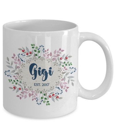 Gigi Grandmother Personalized Custom Coffee Mug