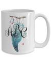 feather dreamcatcher monogrammed mug