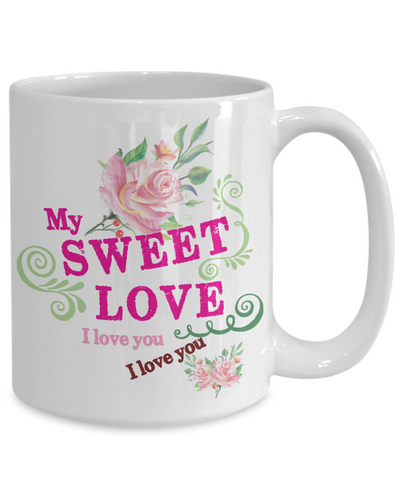 Love You Coffee Mug | Tea Cup | Gift Idea | Valentine's Day