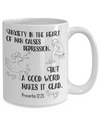 Proverbs 12:25 Coffee Mug 15oz back