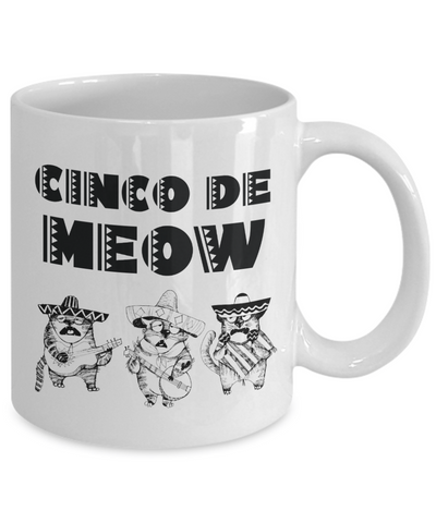 Cinco De Meow Funny Cat mugs