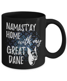 Namast'ay Home With My Great Dane Funny Coffee Mug Tea Cup Dog Lover/Owner Gift Idea 11oz