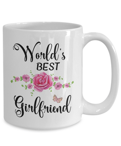 World's Best Girlfriend Coffee Mug Tea Cup | Girlfriend Gift Ideas
