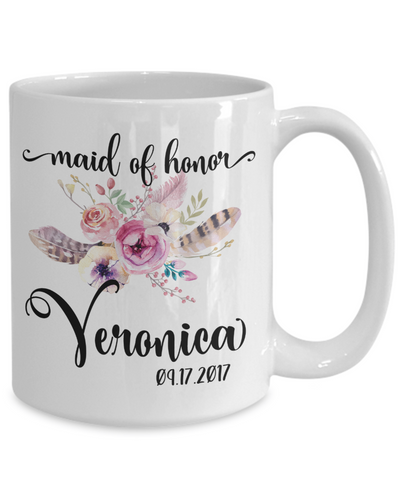 custom maid of honor coffee mug