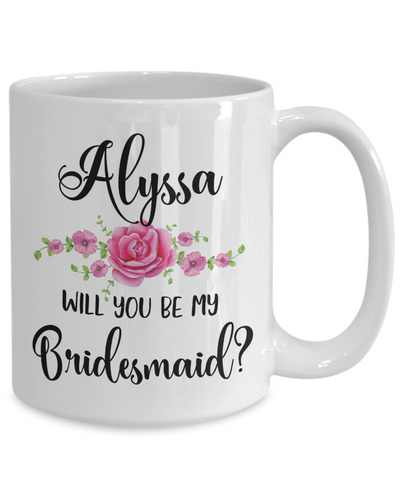 custom bridesmaid coffee mug