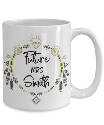 Future Mrs. Smith Customizable Coffee Mug bridal shower