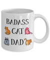 Badass Cat Dad Funny Coffee Mug
