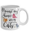 Namast'ay Home With My Cats Funny Coffee Mug