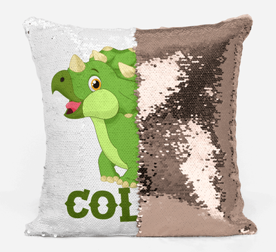 Dinosaur Lover Gifts, Personalized Dino Gifts, Gifts for Girls, Gifts for Boys, Personalized Magic Flip Sequin Pillow, Mermaid Pillow Cover, Personalized Sequin Pillow, Unique Birthday Gifts