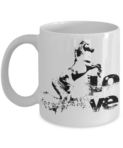 Horse Love Coffee Mug | Horse Lover Gifts | Tea Cup