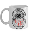 Diver Personalized Monogrammed Coffee Mug | Tea Cup | Gift Idea for Divers