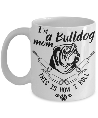 bulldog mom coffee mug