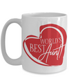 World's Best Aunt Coffee Mug | Gift Idea for Aunts | Tea Cup 15oz