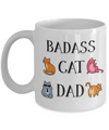 Badass Cat Dad Funny Coffee Mug | Cat Dad Gifts