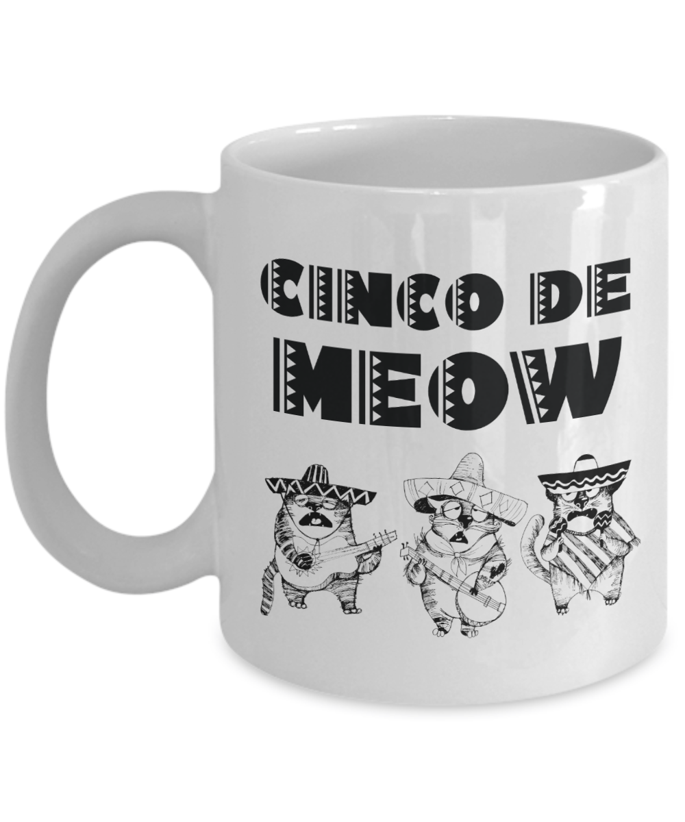 Cinco De Meow Funny Cats Coffee Mug
