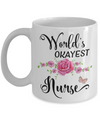World's Okayest Nurse Coffee Mug Tea Cup | Gifts for Nurses